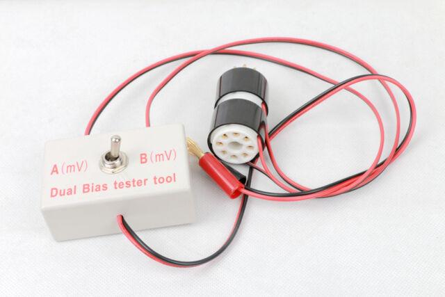 Dual tube amplifier Bias tool tester adapter for EL34 KT88 7591 EL84 6BQ5 6P1