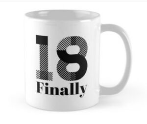 Image Is Loading 18 18th Birthday Small Gift Idea Funny Mug
