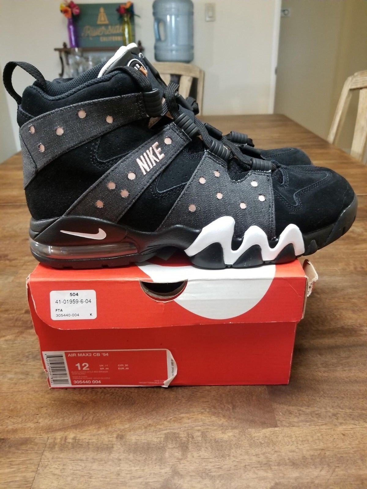 Nike air cb max - 2 cb air - 94 charles barkley, schwarze schuhe 305440-004 männer bronze. 6cf2fb
