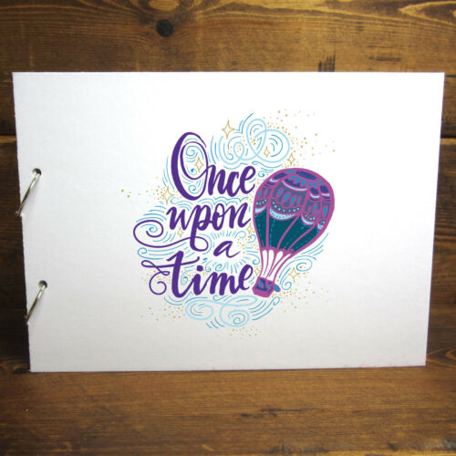 DIY Removable Pages A4//A5 Balloon Once Upon a Time Scrapbook Photo Album