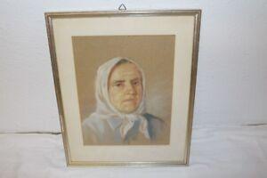 starkes-Portrait-einer-alten-Frau-Baeuerin-Kopftuch-Osteuropa-Gouache-ca-1920