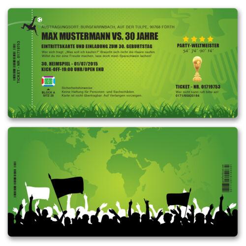 Cartes INVITATION ANNIVERSAIRE comme fussballticket invitation au football
