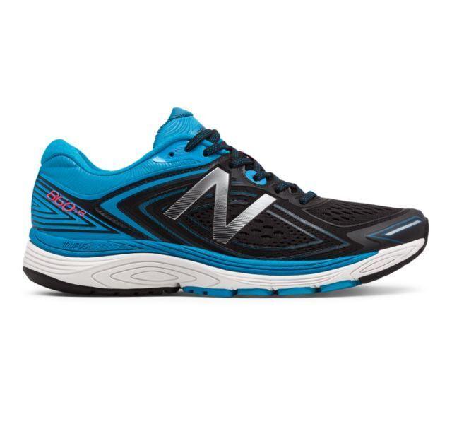 New Balance Men's M860BW8 Running shoes Bolt bluee Black White 860v8 Brand New