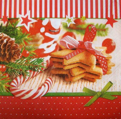 4 x Single Paper Napkins Decoupage Craft Table Christmas Goodies 174