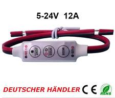 █► Mini Dimmer Controller Regler für LED Strips mit Adapter  5-24V bis 12A