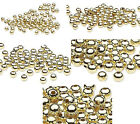 100 Gold Finished Steel Metal Round Spacer Beads 2.5mm 3mm 4mm 6mm 8mm