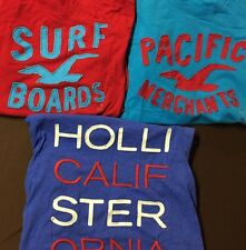 NWT Mens Extra Large XL Hollister Abercrombie Lot 3 Long Sleeve Shirt  Worldwide