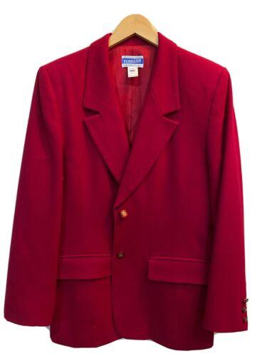 Pendleton Classic Womens Wool Blazer Red, Size 10