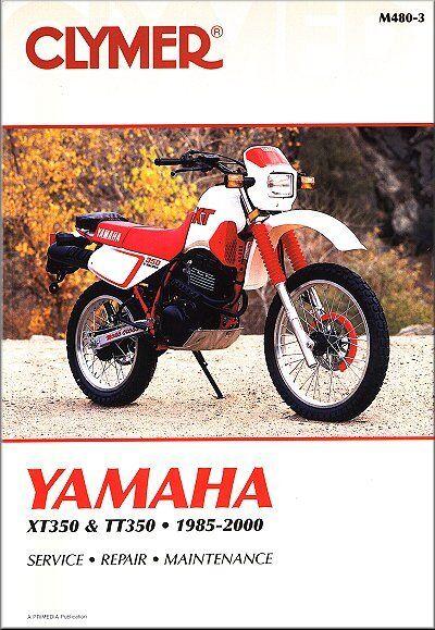 19852000    Yamaha    XT    TT    350 XT350 TT350 CLYMER REPAIR