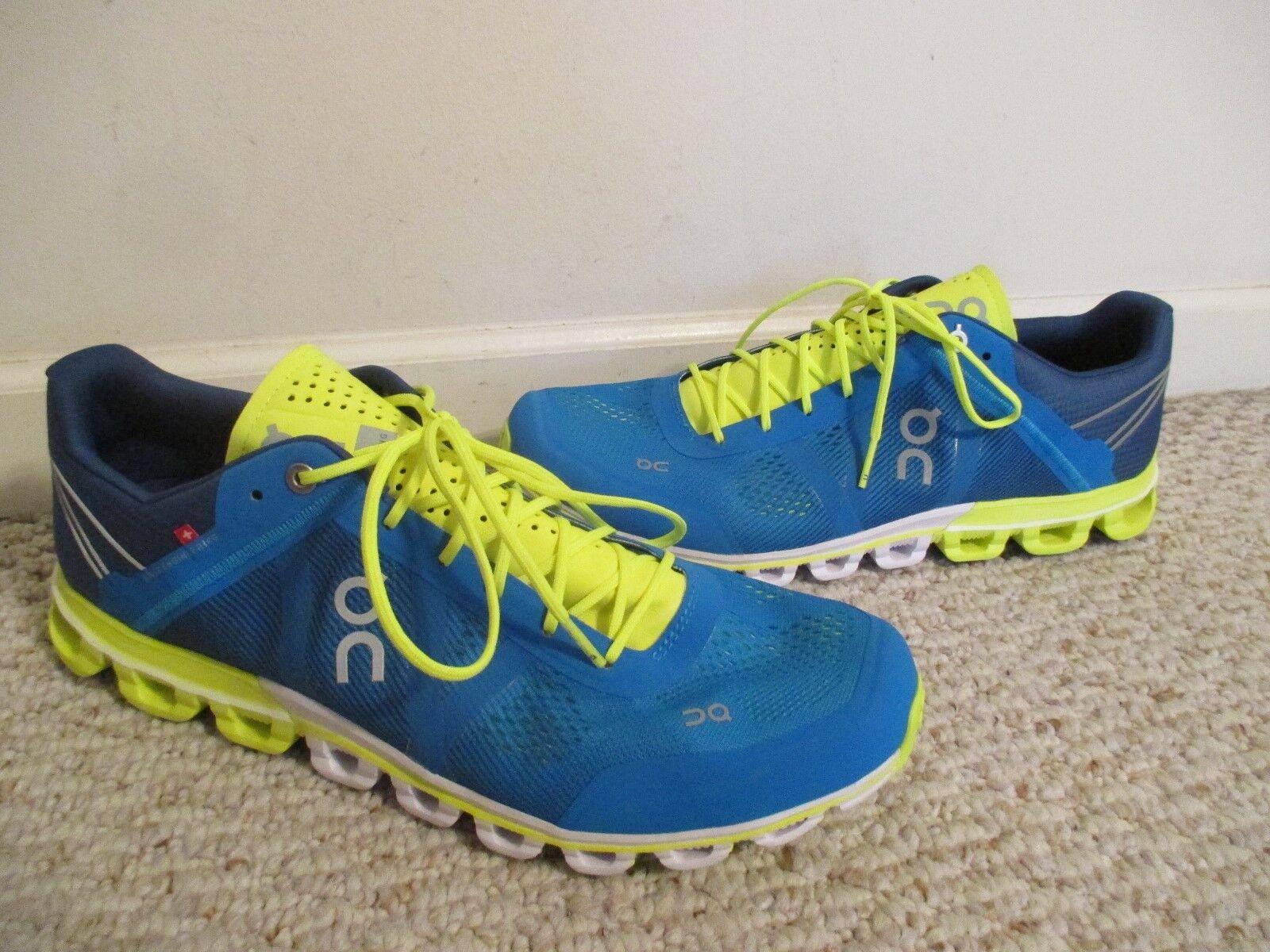 f38de91f19 On Cloudflow shoes Mens Size 10.5 Petrol Neon 15-4329 Running ...