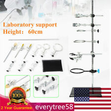 60cm Laboratory Stand Chemistry Support Lab Clamp Flask Condenser Clamp Kit Hot