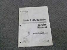 Genie Z 45 22 Boom Service Manual First Edition For Sale Online Ebay