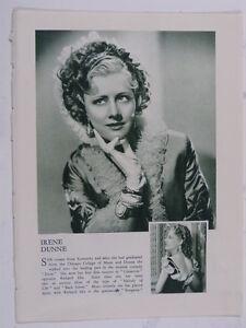 IRENE-DUNNE-vintage-cutting-green-amp-white-monochrome-photo-1935-8x10