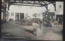 Postcard MUSKOKA Ontario/CANADA  Royal Hotel Rotunda Lounge Interior view 1907