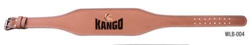 """Kango fitness haltérophilie 4/"""" ceinture en cuir support arrière gym power training"""