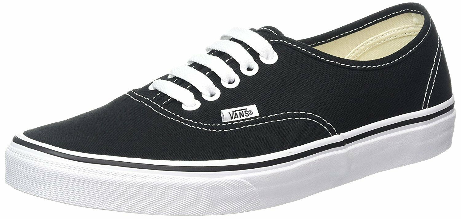 Man/Woman Vans Authentic Black (VN000EE3BLK) High security Year-end sale Selling new products