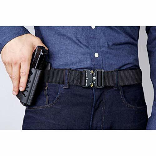 Fairwin Tactical Belt Military Style Webbing Riggers Web Belt Heavy-Duty Quick