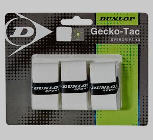 Dunlop-Gecko-Tac-OverGrips-Tennis-Badminton-Squash-Rackets-Racquets-OverGrip