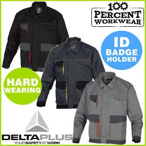 Hard-Wearing-Mens-Work-Unlined-Jacket-Polycotton-Drivers-Warehouse-Delta-Plus