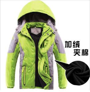 75a3ee54a9f6 Boys Winter Hooded Fleece Jacket Kids Outdoor Waterproof Warm ...