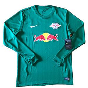 2017 18 Rb Leipzig Home Goalkeeper Medium Nike Long Sleeve Red Bull Gk Green New Ebay