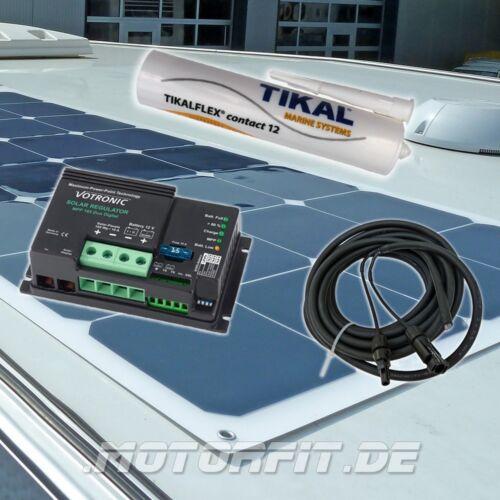 Solaranlage 140 Watt Marine//WoMo ultra flach flexibel Semi-Flex MPP Regler 12V