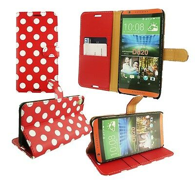 HTC Desire 820 Pu Leather Flip Wallet Case Cover with Desktop Stand & Card Slots