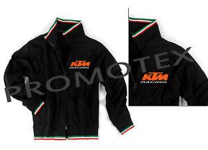 a basso prezzo 9beaa 38b92 Dettagli su FELPA TRICOLORE KTM CORSE LOGO stampato RACING ITALIA NERO NERA