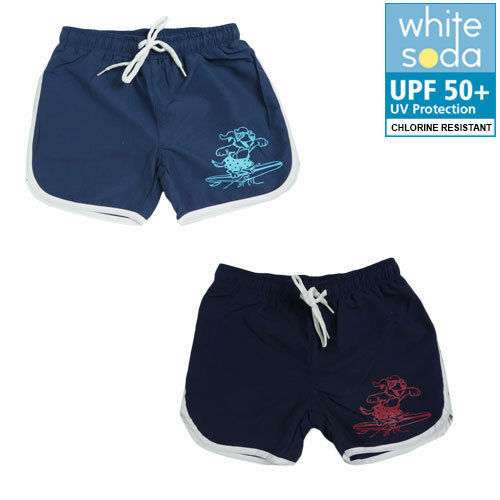 NEW BOYS WHITE SODA BOARDSHORTS SHORTS BOARDIE SIZE 2,3,4,5,6,7,8 CHLO SPF 50