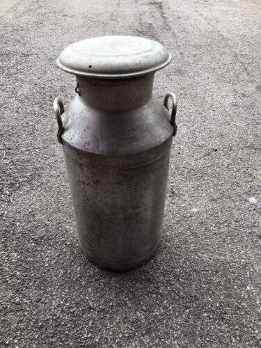 Aluminium Milk Churn with Lid, good condition