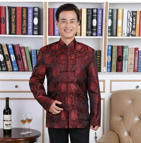 cheap Handsome Chinese men's silk clothing jacket/coat Cheongsam