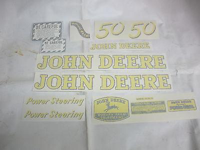 John Deere 50 Decal Set -  Vinyl Cut  NEW FREE SHIPPING