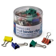 Officemateoic Small Binder Clips Assorted Colors 36 Clips Per Tub 31028