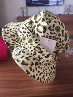 Furla Papermoon Bucket Bow Animal Print Spring Summer Hat M $130