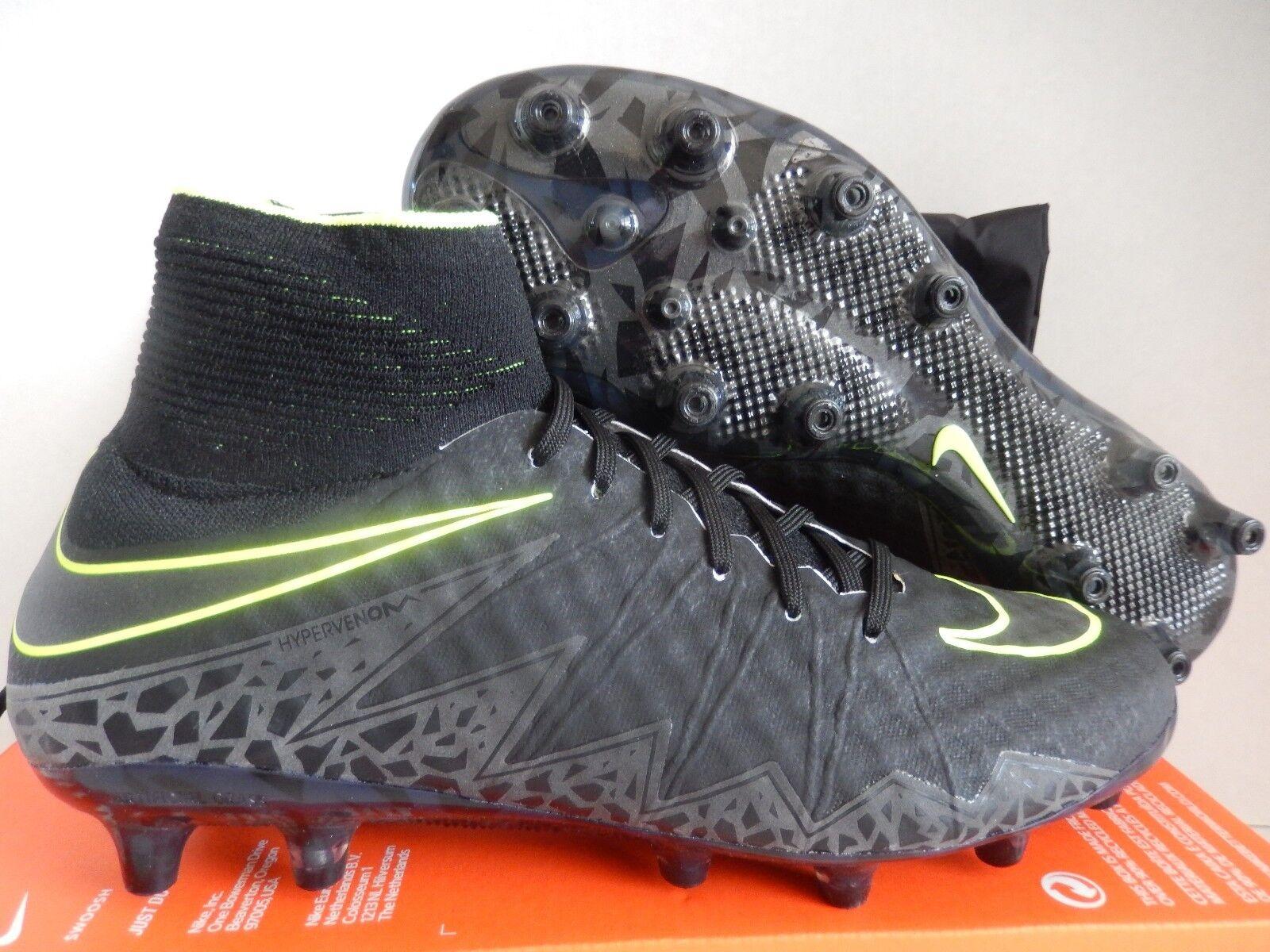 Nike hypervenom phantom ii ag-pro schwarz-schwarz-volt sz 9,5
