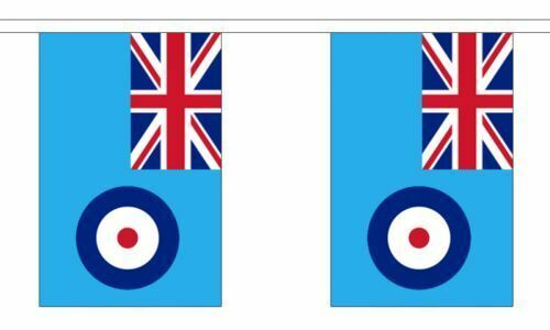 RAF Blue Ensign 6 Metre Bunting 20 Flags Royal Air Force British Military Banner