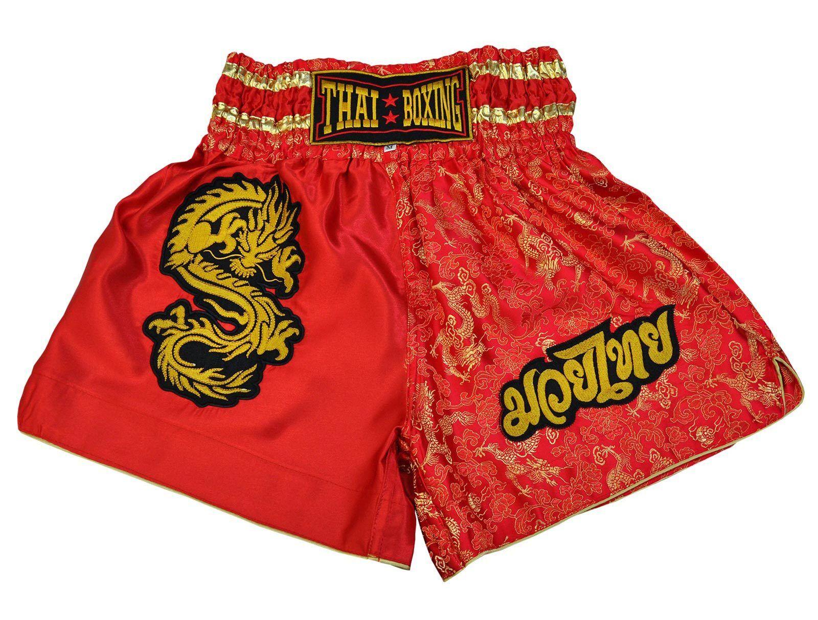 Short de Boxe Thaï, Muay thai, 5 tailles de XXXL M à XXXL de rouge, Thaïlande e64912