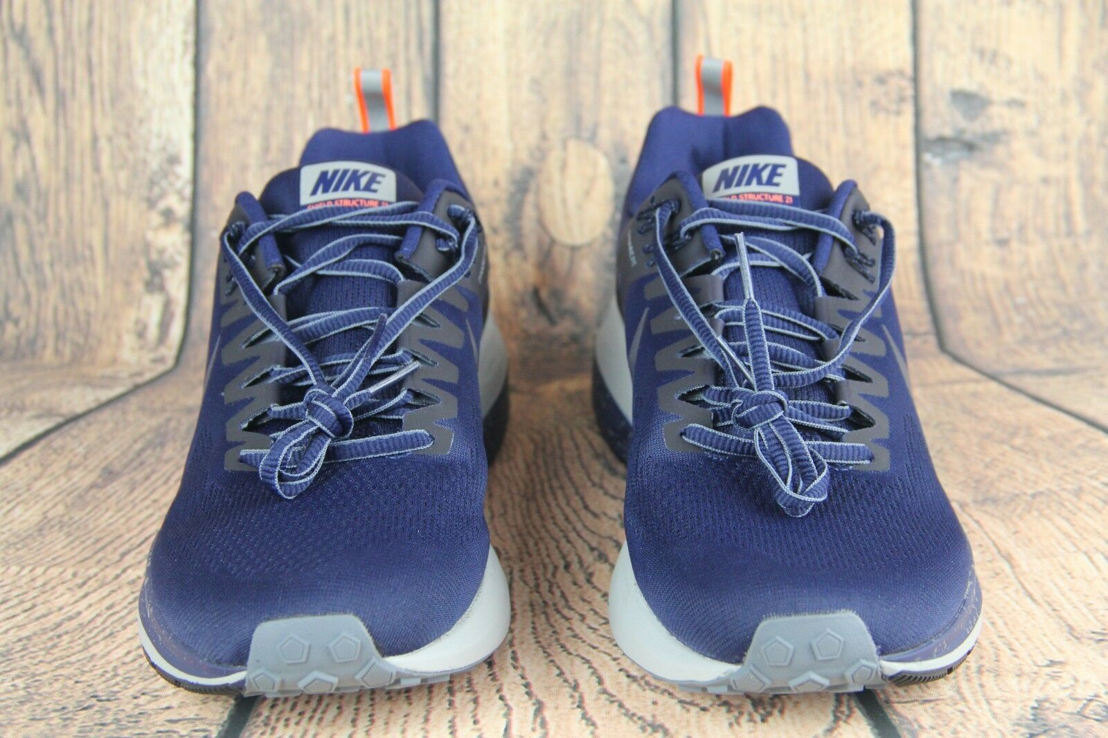 Nike Air Zoom Mens Structure 21 Shield Running shoes bluee Grey 907324-400 Sz 10