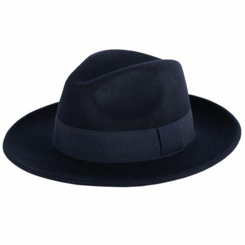 Elegant 100/% Wool Fedora Hat Waterproof /& Crushable Handmade in Italy