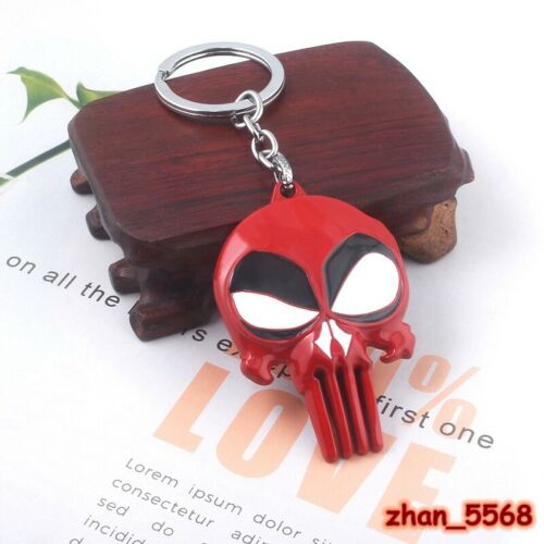 Details about  /Marvel Comics Punisher Red Skull Design Logo Alloy Key Chains Keychain Keyring