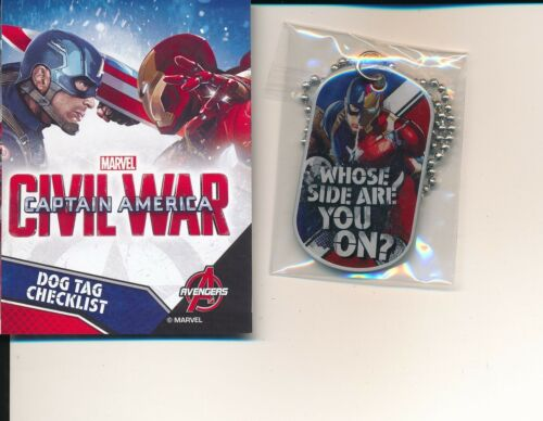 MARVEL CAPTAIN AMERICA CIVIL WAR DOG TAG SINGLE #20 WHOSE SIDE ARE YOU ON?