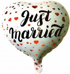"1 Stück Aufblasbarer Folienballon Luftballon Ballon Hochzeitsdeko ""just Married"" Möbel & Wohnen"