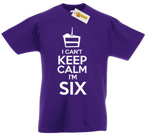 Details About I Cant Im Six T Shirt 6th Birthday Xmas Gifts For 6 Year Old Boys Girls Kids