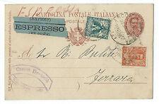 FRANCOBOLLI 1903 REGNO 2 VALORI SU CARTOLINA 10 CENTESIMI CATTOLICA 20/3 D/3442
