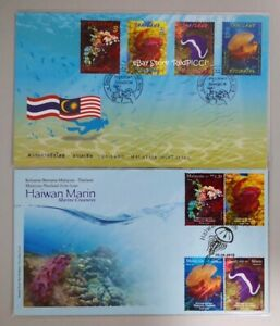 MALAYSIA-Marine-Creatures-Malaysia-Thailand-Joint-Issue-2015-Stamp-FDC