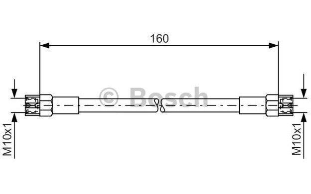 BOSCH Tubo flexible de frenos SEAT TOLEDO VOLKSWAGEN GOLF AUDI 1 987 476 220