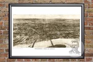 Vintage-Omaha-NE-Map-1906-Historic-Nebraska-Art-Old-Victorian-Industrial