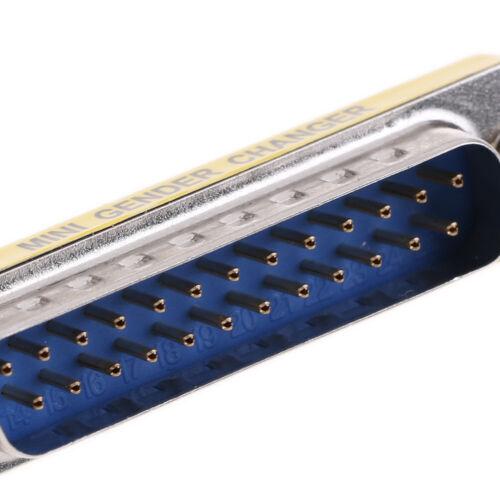 DB25 D-Sub 25pin Connectors Mini Gender Changer Adapter RS232 Serial Connec Gw