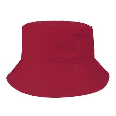 Childrens Stone Khaki Bush Hat Boys Girl Cotton Summer Sun Bucket Cap Plain Kids