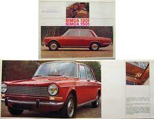 Simca 1301 & 1501 1966-67 Original UK Sales Brochure
